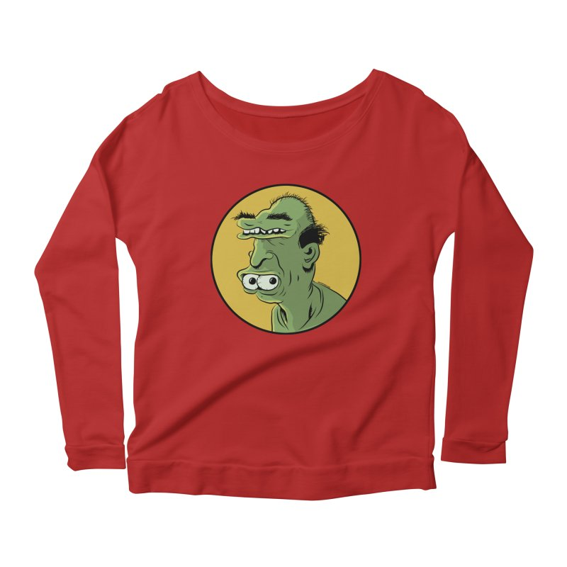 Weirdo Women's Longsleeve Scoopneck  by Zerostreet's Artist Shop