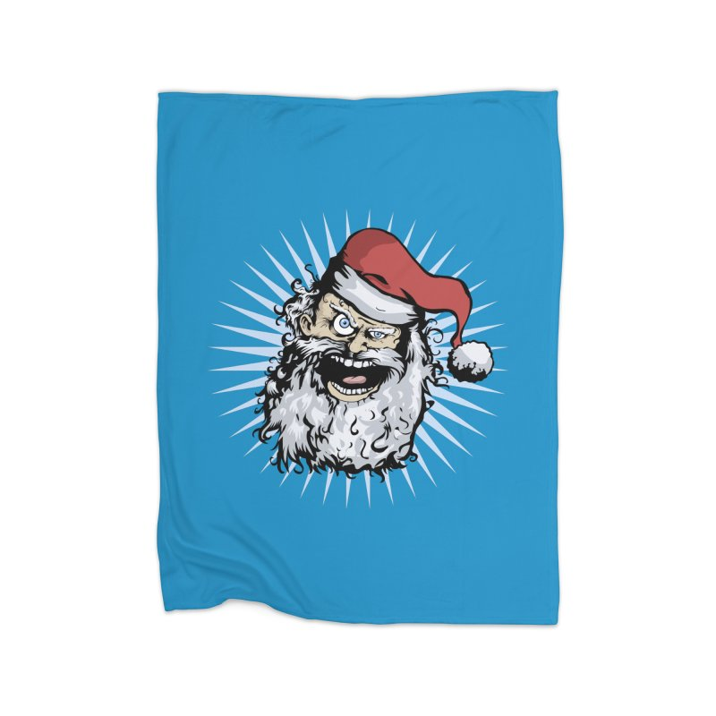 Pissed Santa Home Fleece Blanket by Zerostreet's Artist Shop