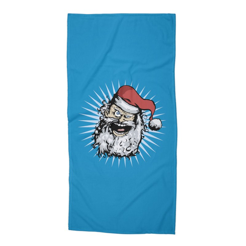 Pissed Santa Accessories Beach Towel by Zerostreet's Artist Shop