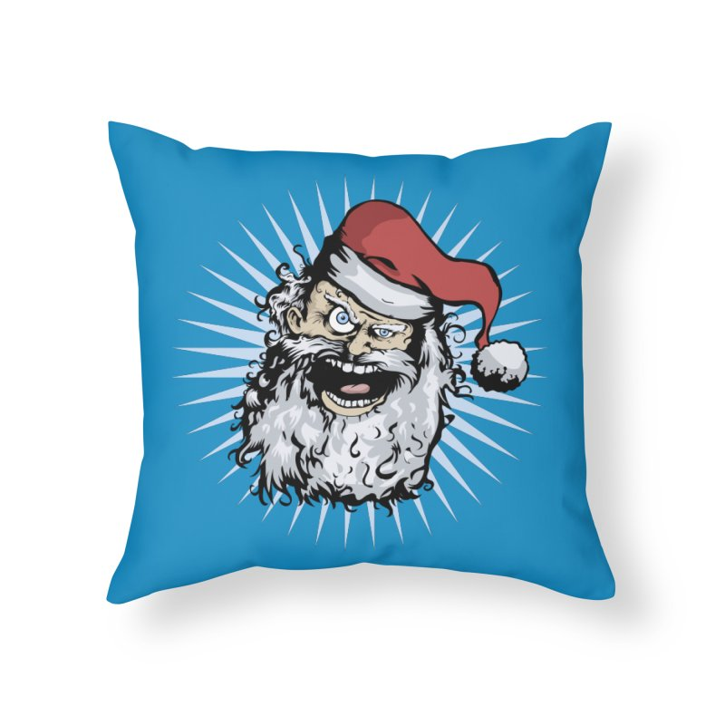 Pissed Santa Home Throw Pillow by Zerostreet's Artist Shop