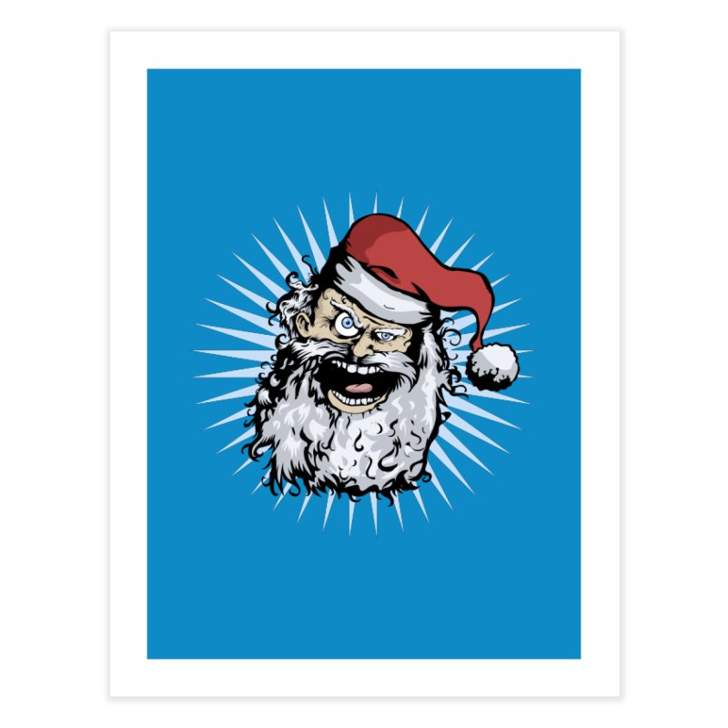 Pissed Santa Home Fine Art Print by Zerostreet's Artist Shop