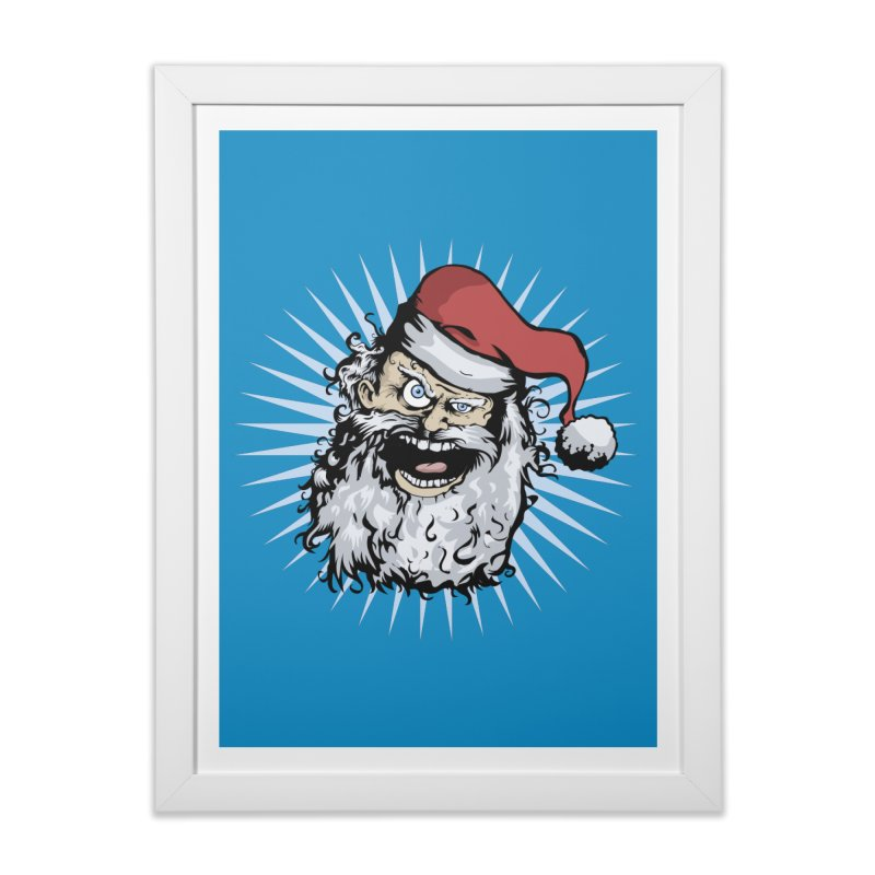 Pissed Santa Home Framed Fine Art Print by Zerostreet's Artist Shop