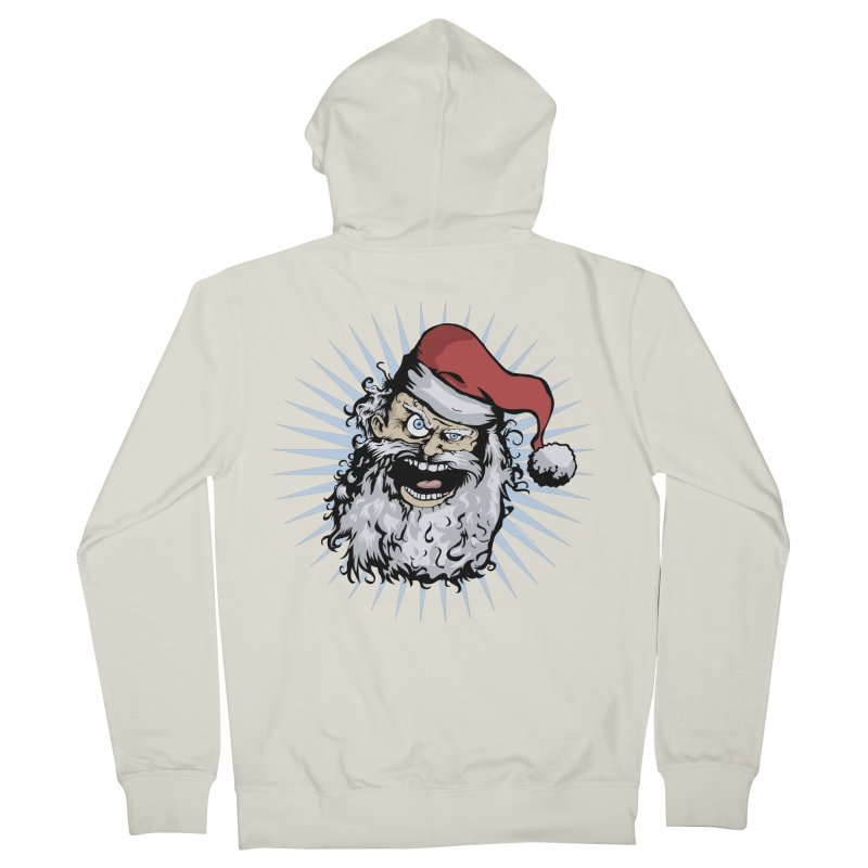 Pissed Santa Women's Zip-Up Hoody by Zerostreet's Artist Shop
