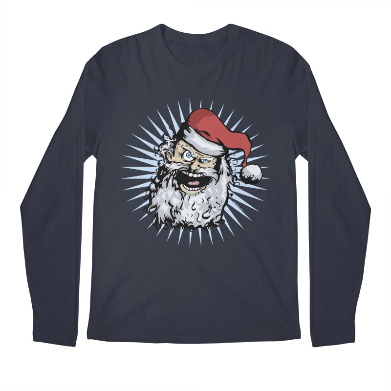 Pissed Santa Men's Longsleeve T-Shirt by Zerostreet's Artist Shop