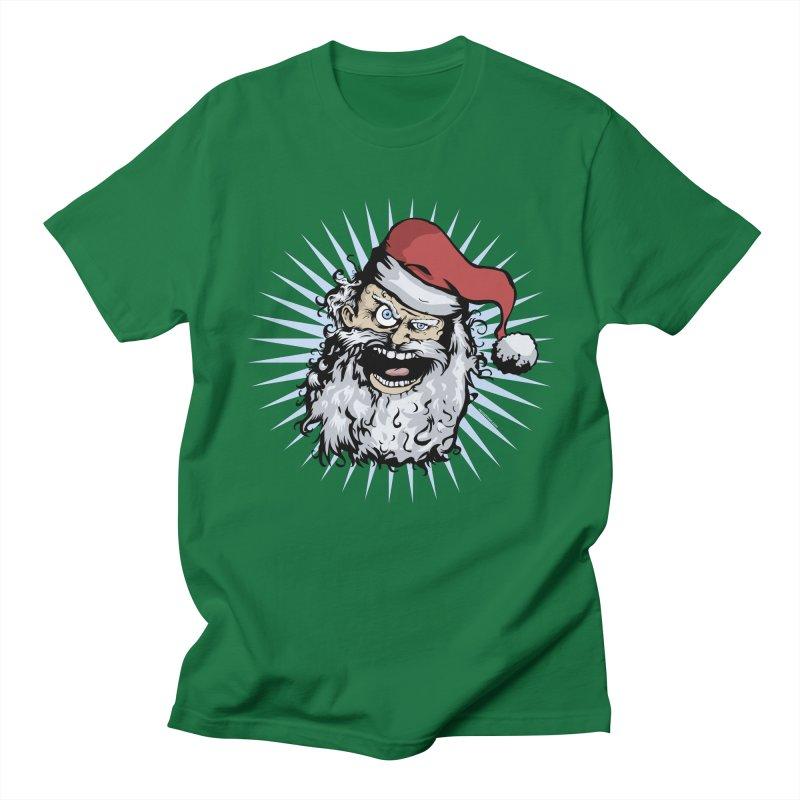 Pissed Santa Men's T-shirt by Zerostreet's Artist Shop