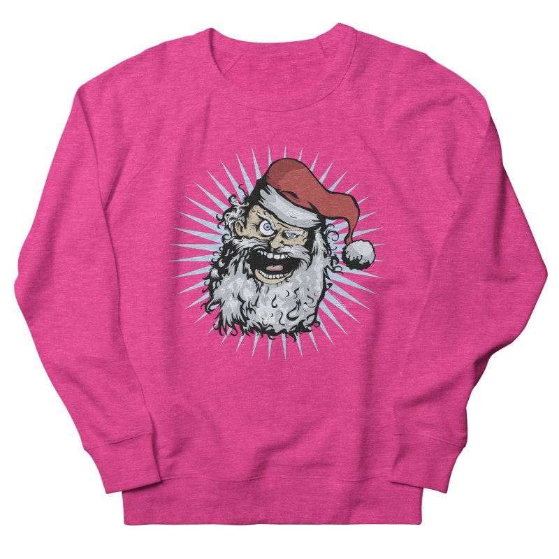 Pissed Santa Women's Sweatshirt by Zerostreet's Artist Shop