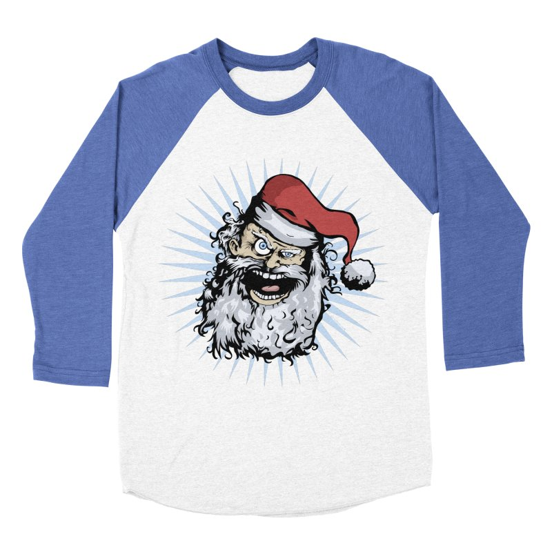 Pissed Santa Women's Baseball Triblend T-Shirt by Zerostreet's Artist Shop