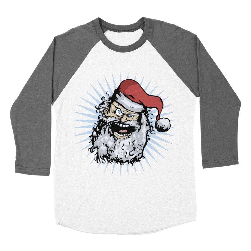 Pissed Santa Women's Baseball Triblend T-Shirt by Zerostreet's Artist Shop