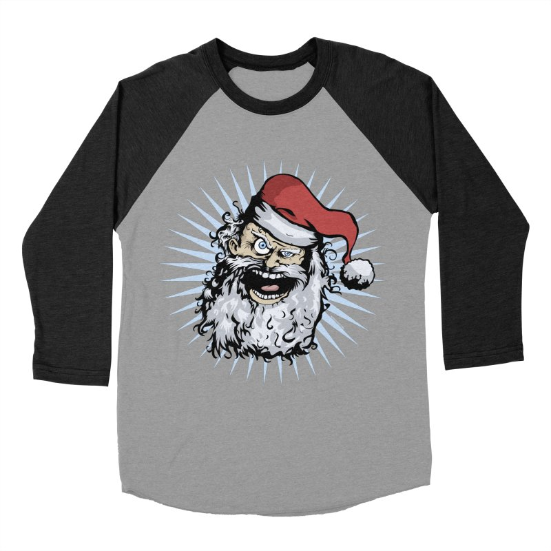 Pissed Santa Men's Baseball Triblend T-Shirt by Zerostreet's Artist Shop