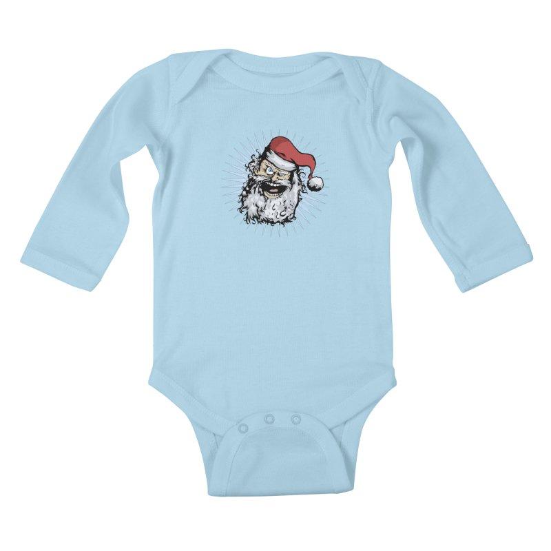 Pissed Santa Kids Baby Longsleeve Bodysuit by Zerostreet's Artist Shop
