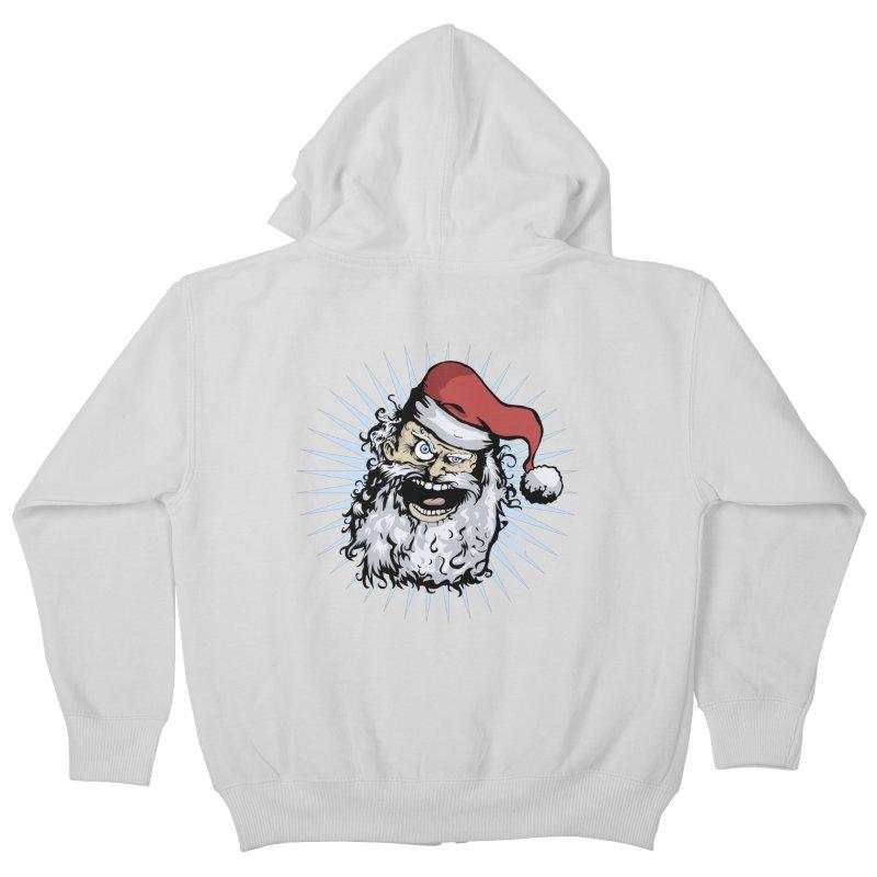 Pissed Santa Kids Zip-Up Hoody by Zerostreet's Artist Shop