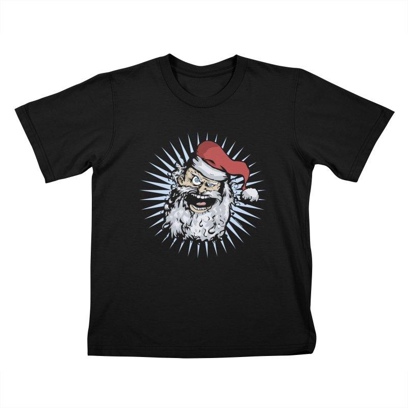 Pissed Santa Kids T-Shirt by Zerostreet's Artist Shop