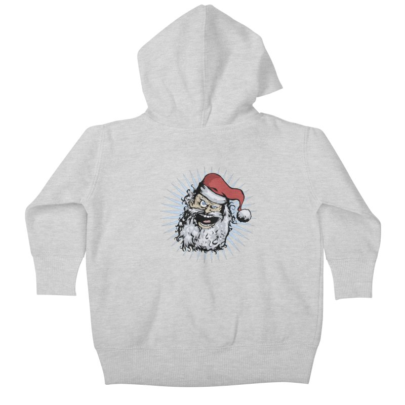 Pissed Santa Kids Baby Zip-Up Hoody by Zerostreet's Artist Shop