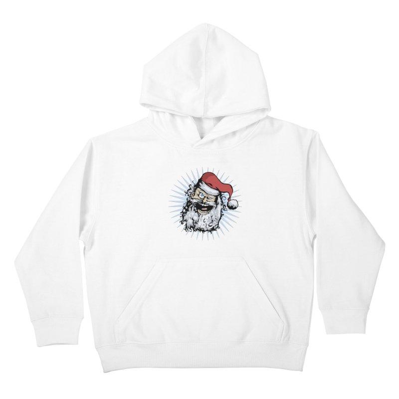 Pissed Santa Kids Pullover Hoody by Zerostreet's Artist Shop