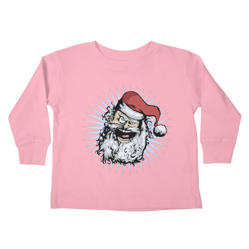 Pissed Santa Kids Toddler Longsleeve T-Shirt by Zerostreet's Artist Shop