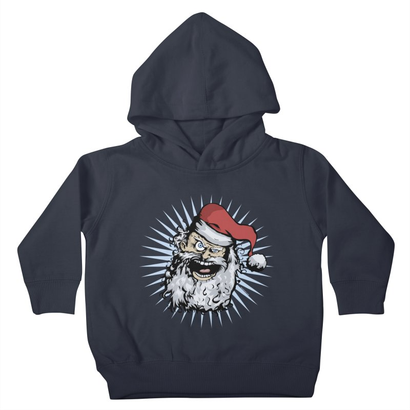 Pissed Santa Kids Toddler Pullover Hoody by Zerostreet's Artist Shop
