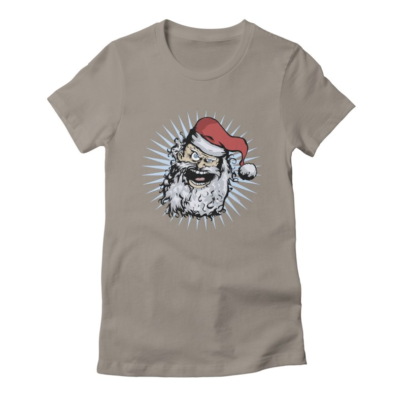Pissed Santa Women's Fitted T-Shirt by Zerostreet's Artist Shop