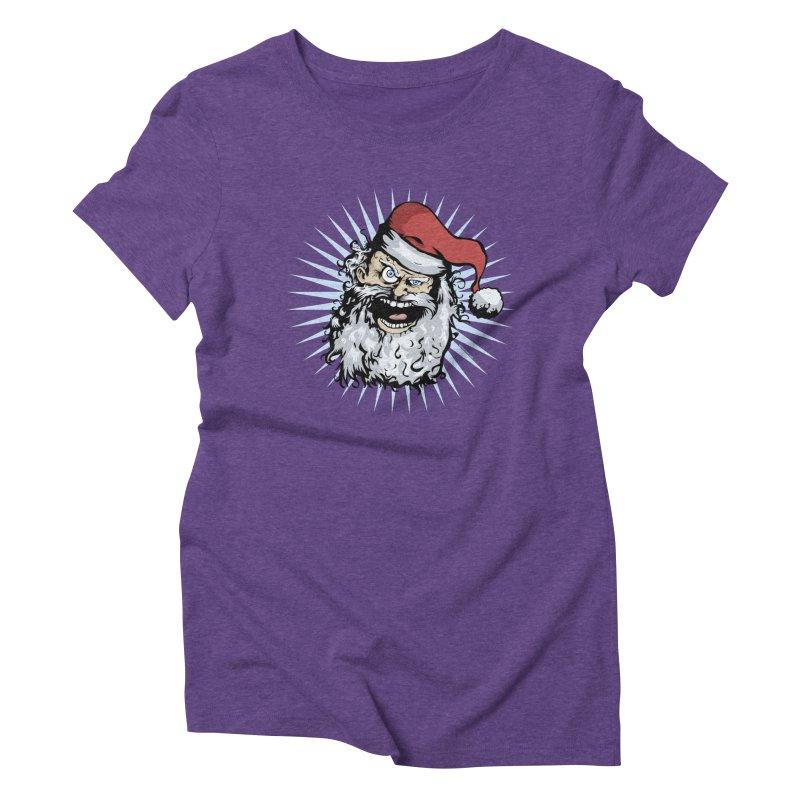 Pissed Santa Women's Triblend T-Shirt by Zerostreet's Artist Shop