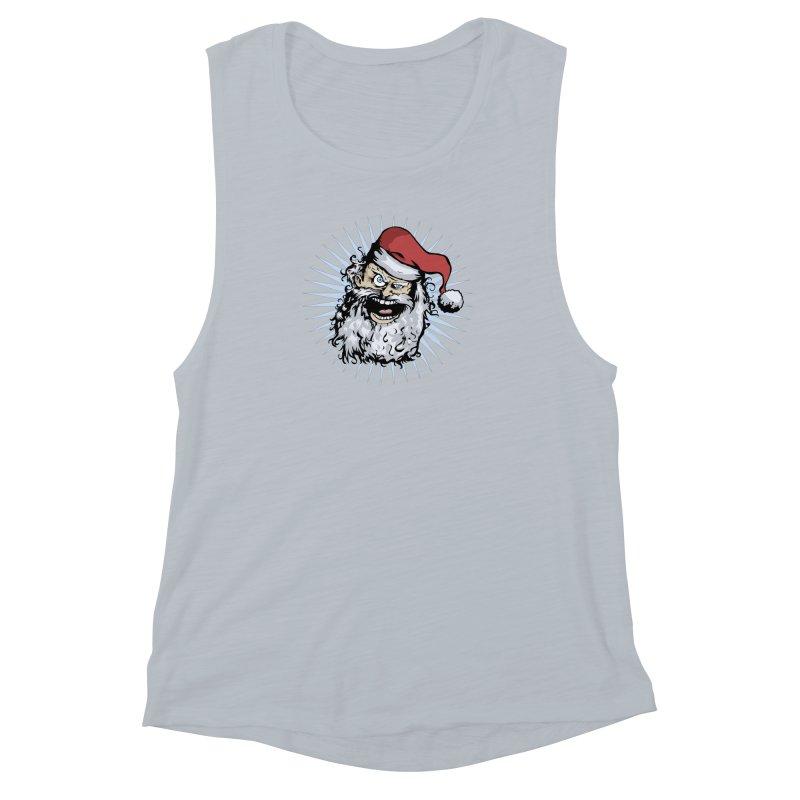 Pissed Santa Women's Muscle Tank by Zerostreet's Artist Shop