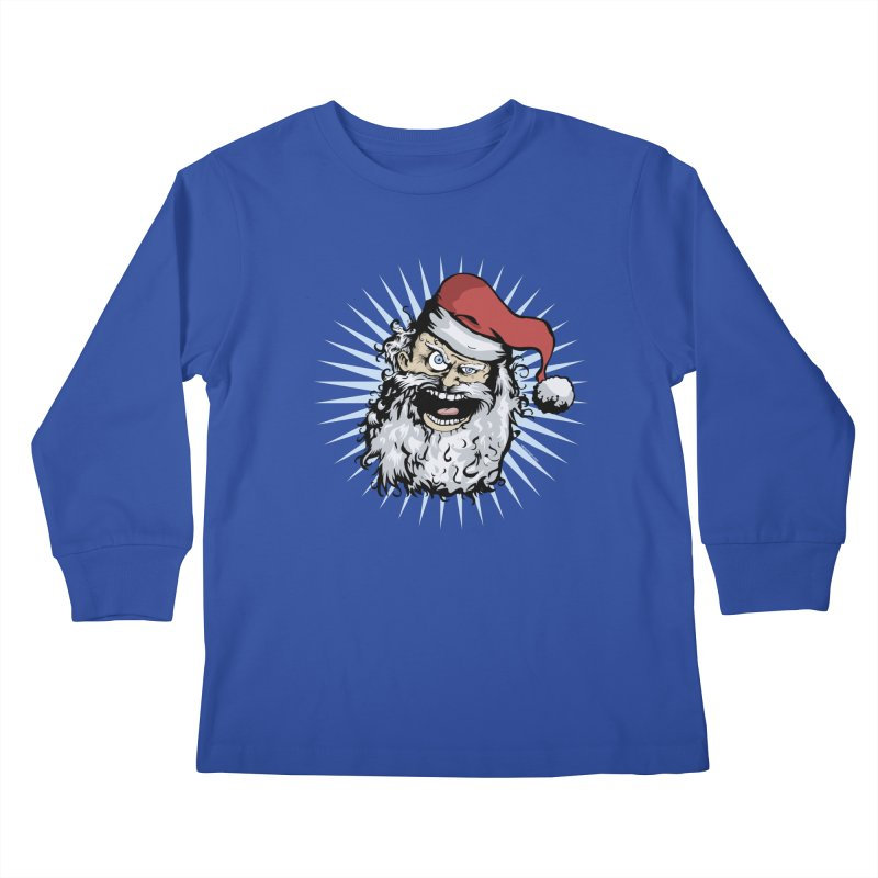 Pissed Santa Kids Longsleeve T-Shirt by Zerostreet's Artist Shop