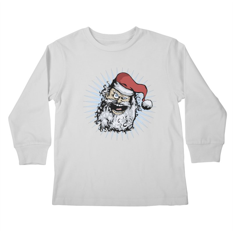 Pissed Santa Kids Longsleeve T-Shirt by Zerostreet's Artist Shop