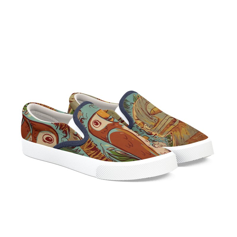 Island Chatter Women's Slip-On Shoes by Zerostreet's Artist Shop