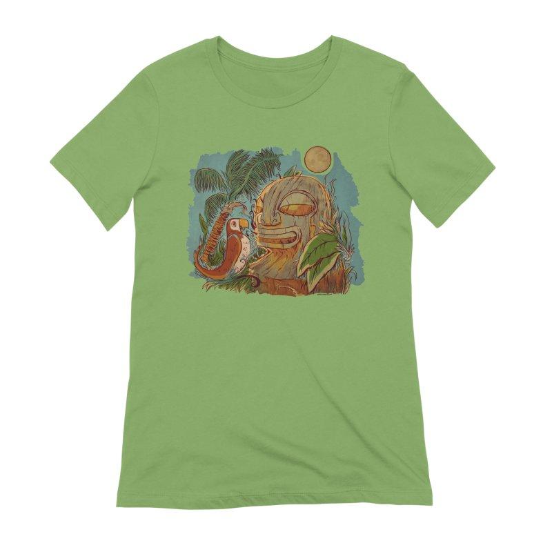 Island Chatter Women's Extra Soft T-Shirt by Zerostreet's Artist Shop