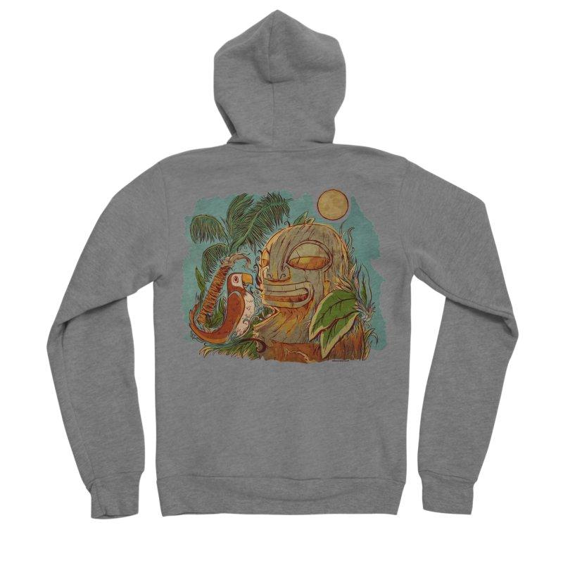Island Chatter Men's Sponge Fleece Zip-Up Hoody by Zerostreet's Artist Shop
