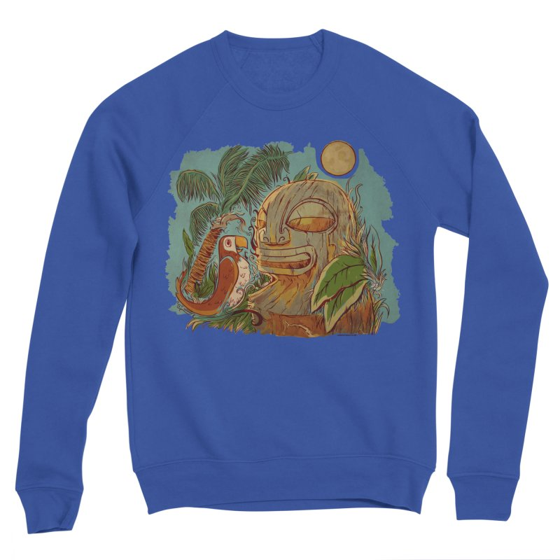 Island Chatter Women's Sponge Fleece Sweatshirt by Zerostreet's Artist Shop