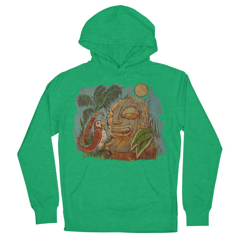 Island Chatter Men's French Terry Pullover Hoody by Zerostreet's Artist Shop