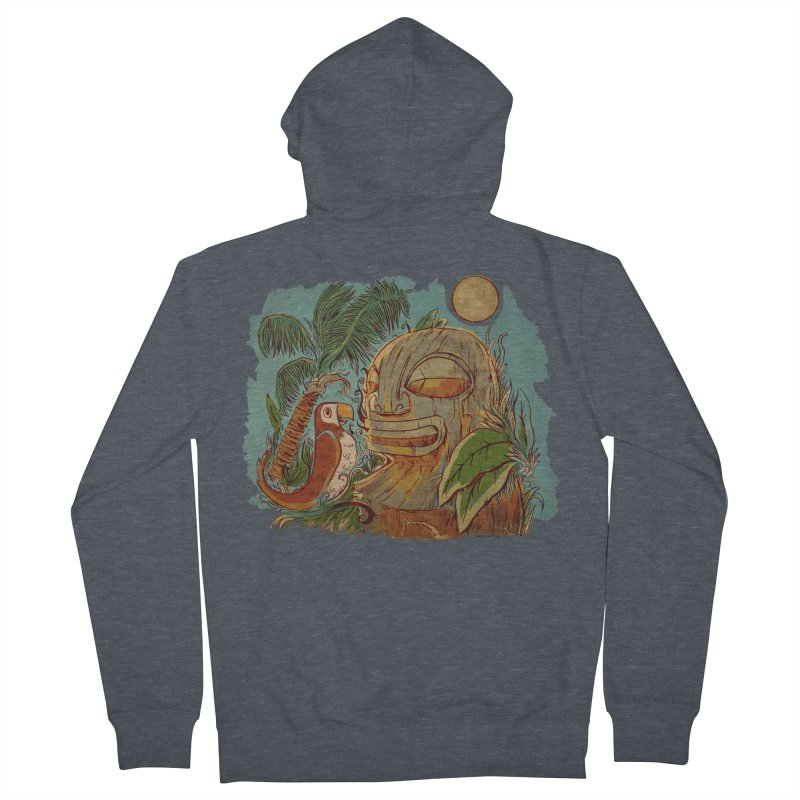 Island Chatter Women's French Terry Zip-Up Hoody by Zerostreet's Artist Shop
