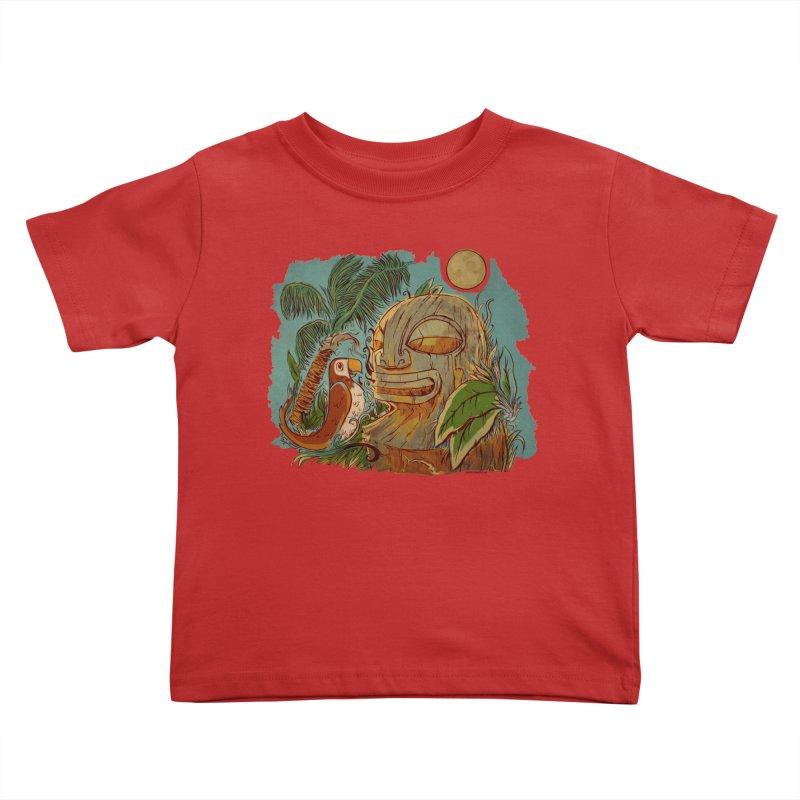 Island Chatter Kids Toddler T-Shirt by Zerostreet's Artist Shop