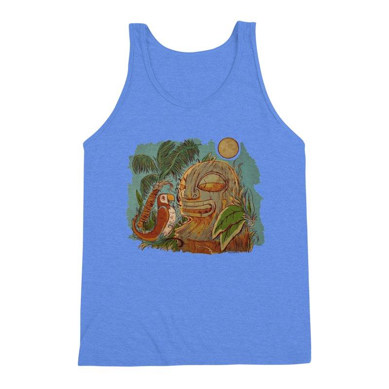Island Chatter Men's Triblend Tank by Zerostreet's Artist Shop