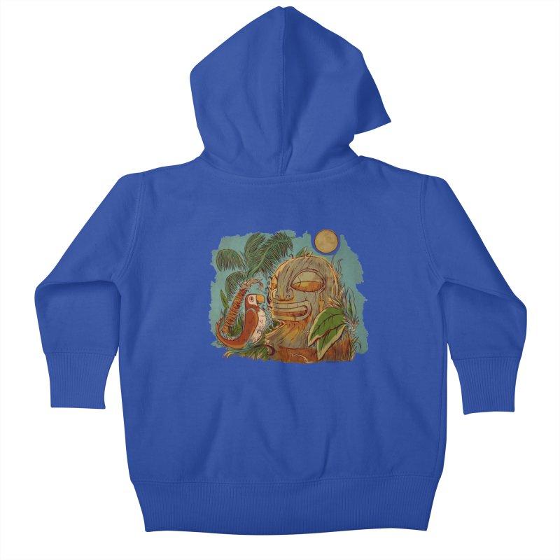 Island Chatter Kids Baby Zip-Up Hoody by Zerostreet's Artist Shop