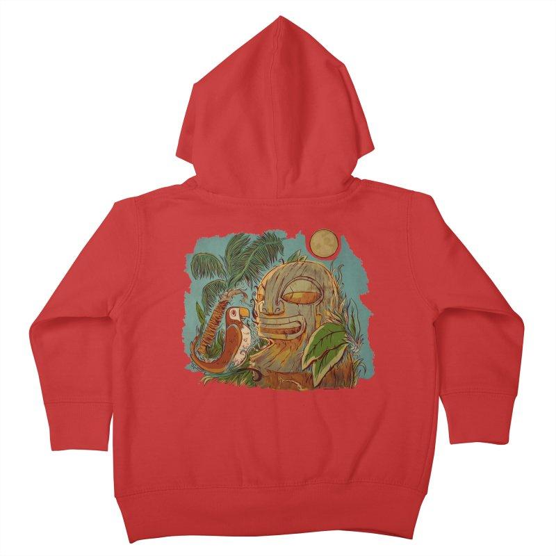 Island Chatter Kids Toddler Zip-Up Hoody by Zerostreet's Artist Shop