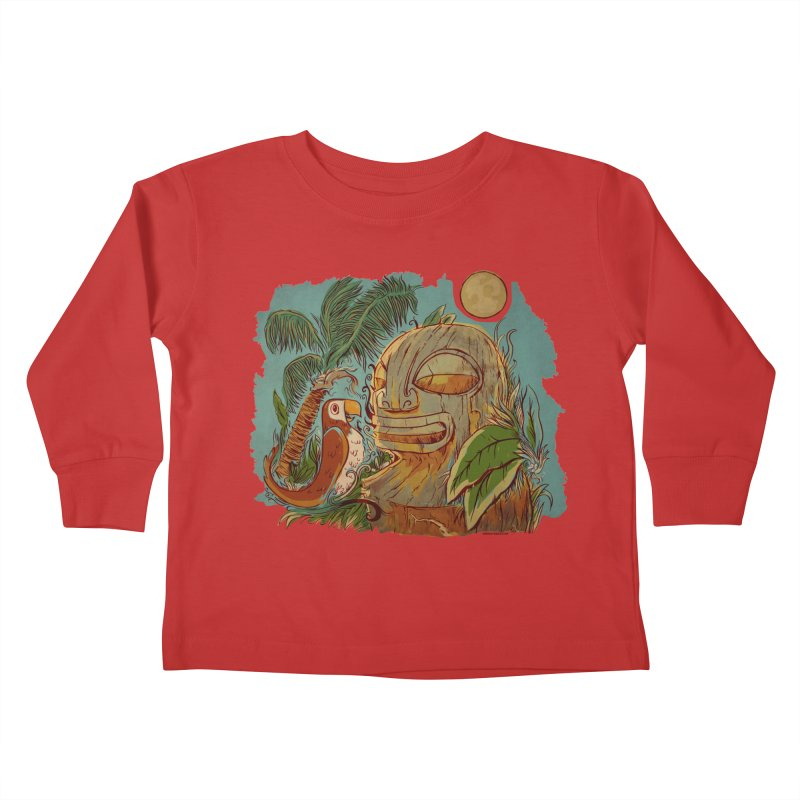 Island Chatter Kids Toddler Longsleeve T-Shirt by Zerostreet's Artist Shop