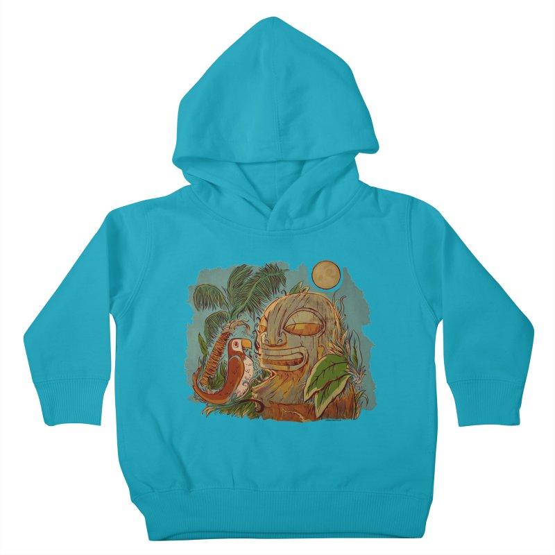 Island Chatter Kids Toddler Pullover Hoody by Zerostreet's Artist Shop