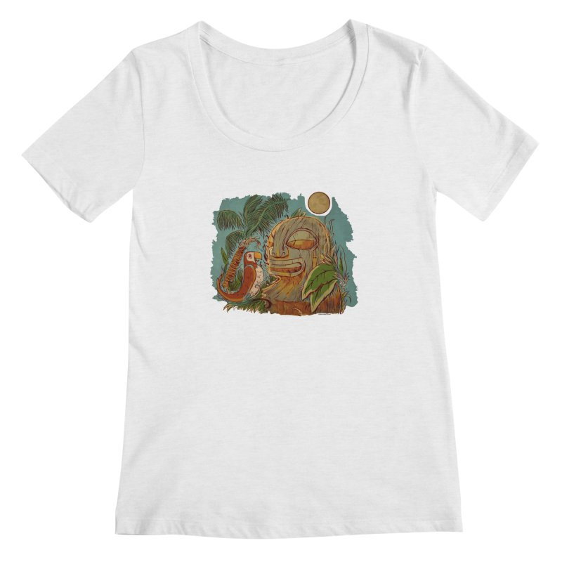 Island Chatter Women's Regular Scoop Neck by Zerostreet's Artist Shop