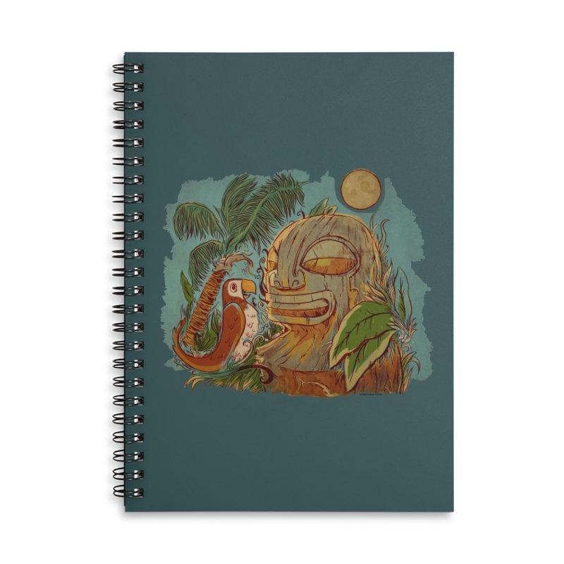 Island Chatter Accessories Lined Spiral Notebook by Zerostreet's Artist Shop