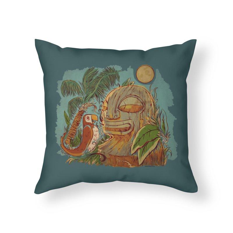 Island Chatter Home Throw Pillow by Zerostreet's Artist Shop