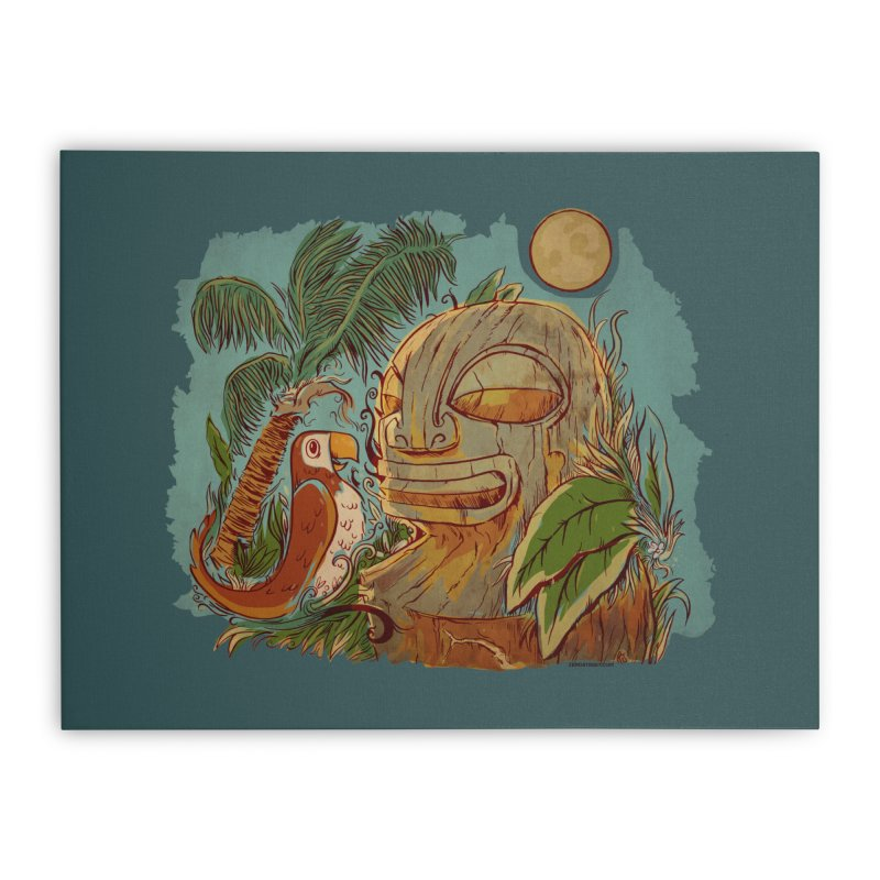 Island Chatter Home Stretched Canvas by Zerostreet's Artist Shop