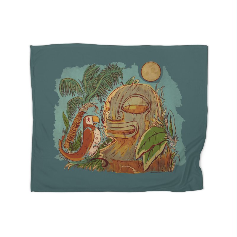 Island Chatter Home Fleece Blanket Blanket by Zerostreet's Artist Shop