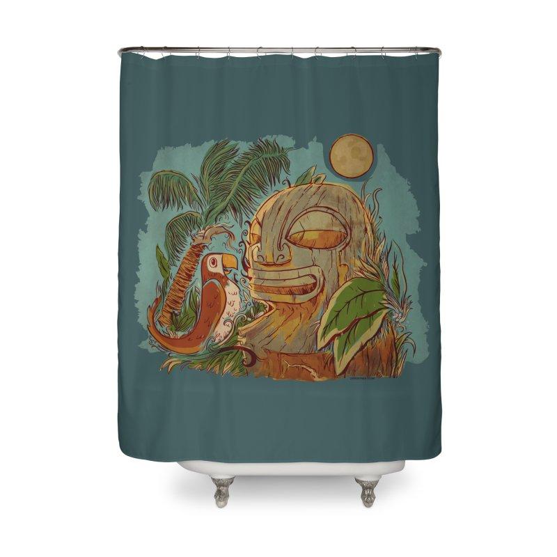 Island Chatter Home Shower Curtain by Zerostreet's Artist Shop