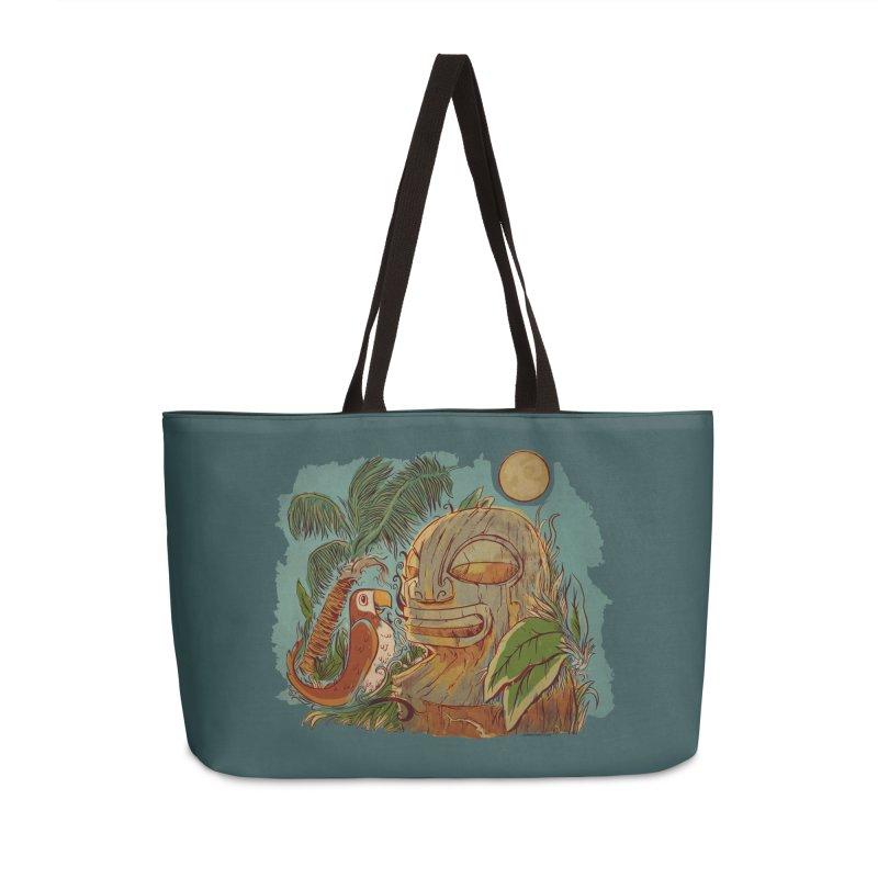 Island Chatter Accessories Weekender Bag Bag by Zerostreet's Artist Shop