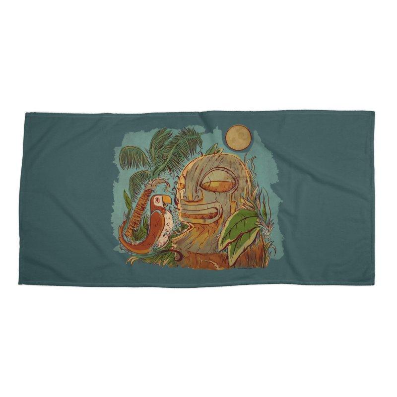 Island Chatter Accessories Beach Towel by Zerostreet's Artist Shop
