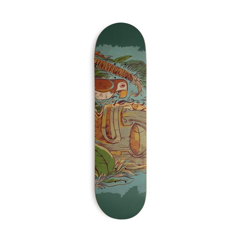 Island Chatter Accessories Deck Only Skateboard by Zerostreet's Artist Shop
