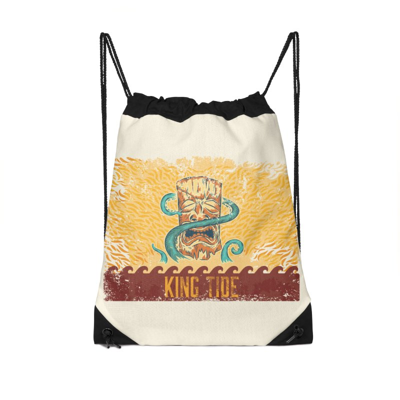King Tide Accessories Drawstring Bag Bag by Zerostreet's Artist Shop