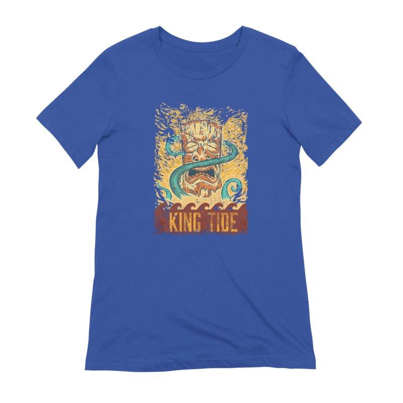 King Tide Women's Extra Soft T-Shirt by Zerostreet's Artist Shop