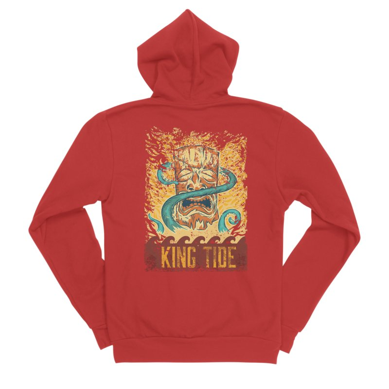 King Tide Men's Sponge Fleece Zip-Up Hoody by Zerostreet's Artist Shop