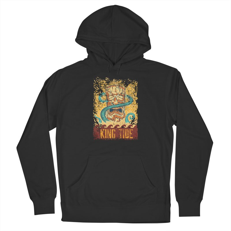 King Tide Men's French Terry Pullover Hoody by Zerostreet's Artist Shop
